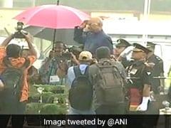 President Ram Nath Kovind Braves Steady Drizzle To Take Salute