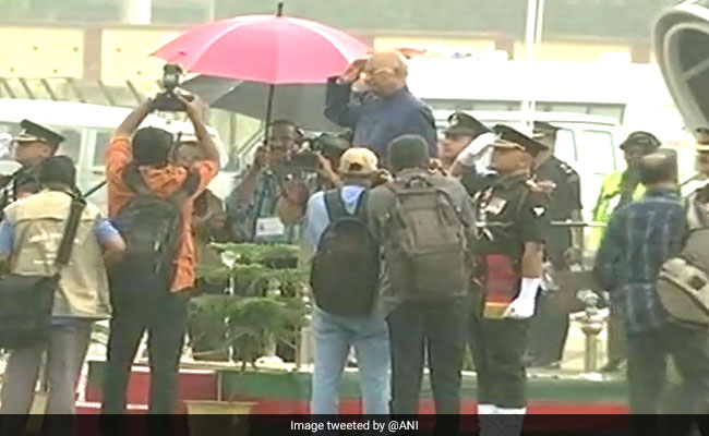President Ram Nath Kovind Braves Steady Drizzle To Take Salute