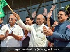 मुंबई और शिरडी के बीच शुरू हुई विमान सेवा, राष्ट्रपति कोविंद ने दिखाई हरी झंडी