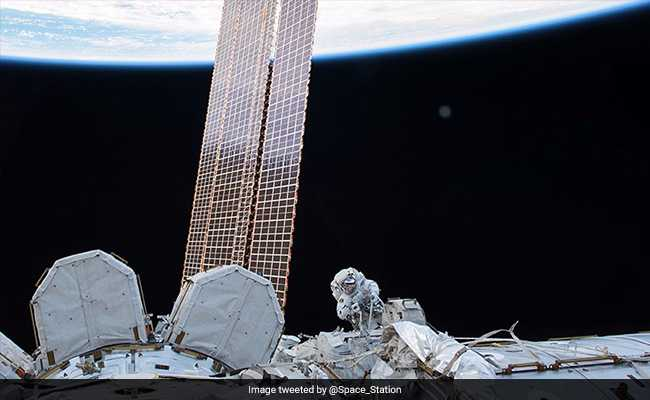 US Spacewalkers Install 'New Eyes' At Space Station