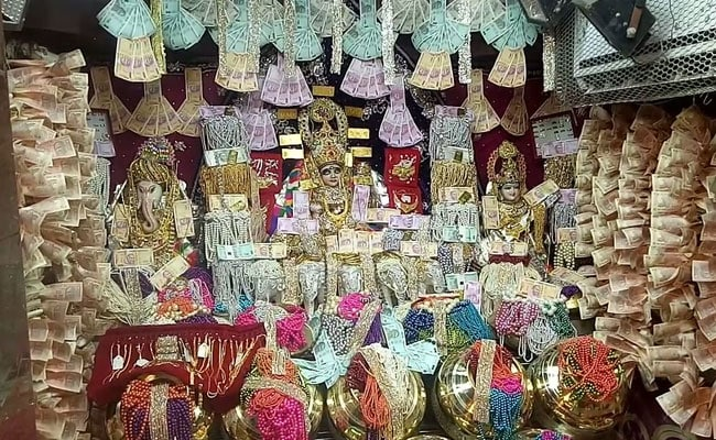 Inside A Madhya Pradesh Temple, Decorated With Nearly 100 Crores Cash