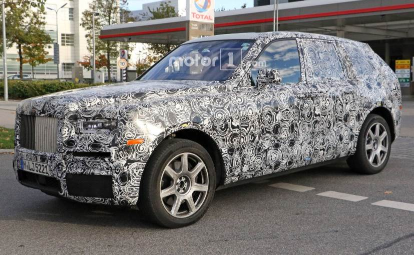 Rolls-Royce Cullinan SUV Spotted Testing; Interior Uncovered - NDTV ...