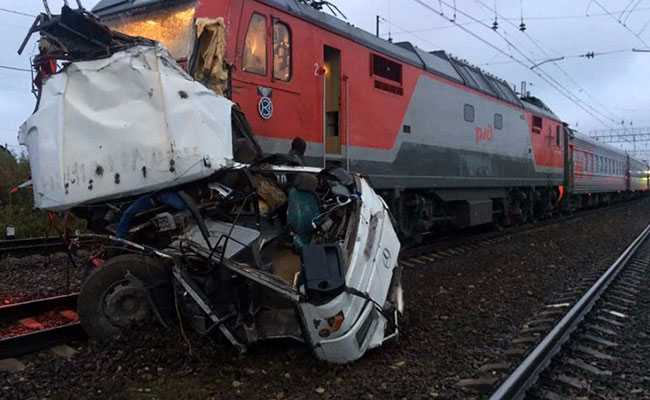 At Least 19 People Dead As Train Slams Into Passenger Bus In Russia