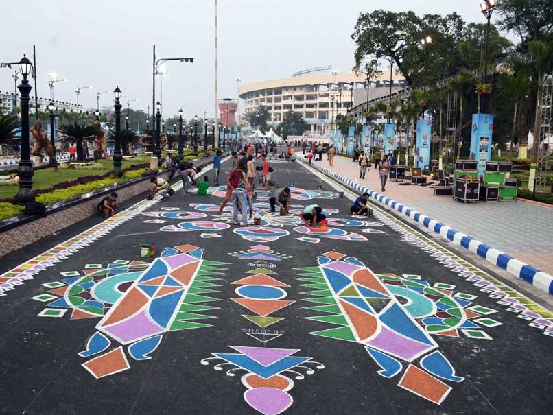 FIFA U-17 World Cup: Rangoli Display At Salt Lake Stadium To Welcome Teams