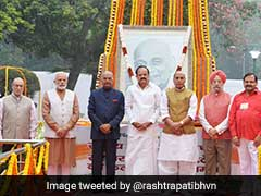 President Ram Nath Kovind And Vice President M Venkaiah Naidu Pay Tributes To Sardar Patel