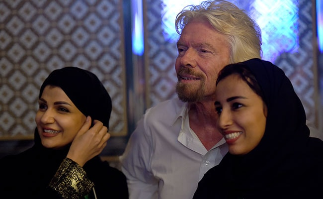 saudi women richard branson afp