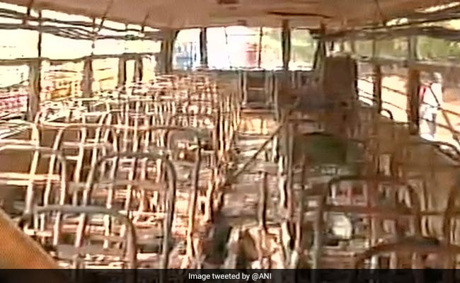 Delhi: School bus catches fire near Dhaula Khan, 30 students evacuated