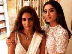 Navya Naveli, Shweta Bachchan Nanda At Abu Jani-Sandeep Khosla's Diwali Party. Pics Here