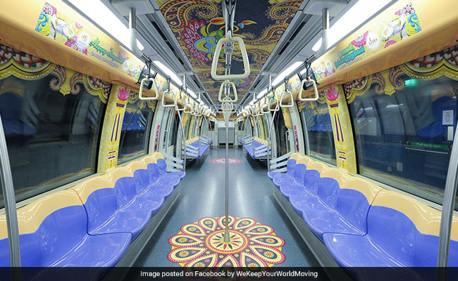 Singapore's Diwali-Themed Trains Are Nothing Short Of Spectacular