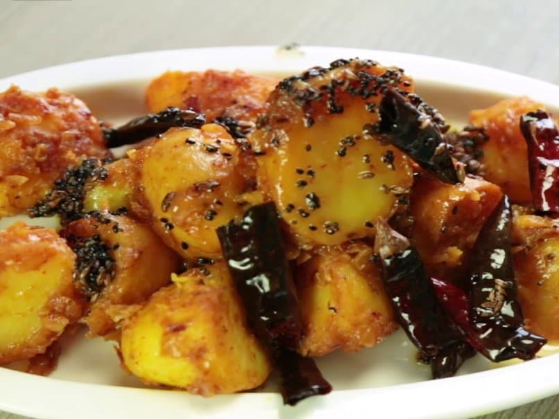 Achaari Aloo Recipe Ndtv Food