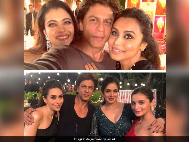 Shah Rukh Khan Posts Pic With Sridevi, Kajol, Rani Mukerji, Alia Bhatt And Karisma Kapoor. Internet's Smitten