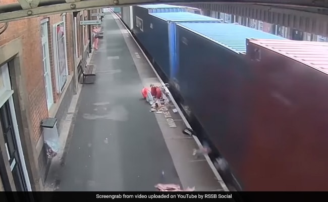 Caught On CCTV: Stroller Struck By Speeding Train
