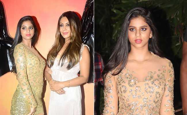 Photos: मम्मी गौरी खान की Halloween Party में बेटी सुहाना का यूं नजर आया Golden अवतार