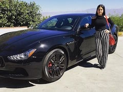Actor Sunny Leone Brings Home The Limited Edition Maserati Ghibli Nerissimo