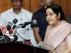 In Bangladesh, Sushma Swaraj Offers Her Thoughts On Rohingya Crisis