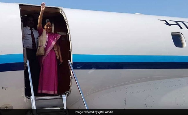 Sushma Swaraj Arrives In Bangladesh, Will Review Bilateral Ties