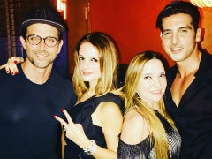 Hrithik Roshan Joins Sussanne Khan At Her Birthday Party. Inside Pics Here