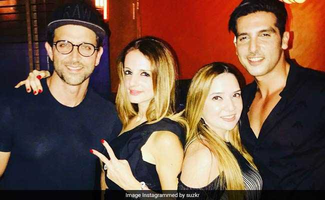 Ex Wife सुजैन खान की Birthday Party में ऋतिक रोशन की स्पेशल एंट्री