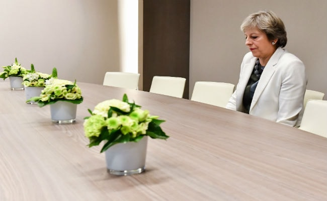 This 'Lonely' Photo Of UK PM Theresa May Is Going Viral