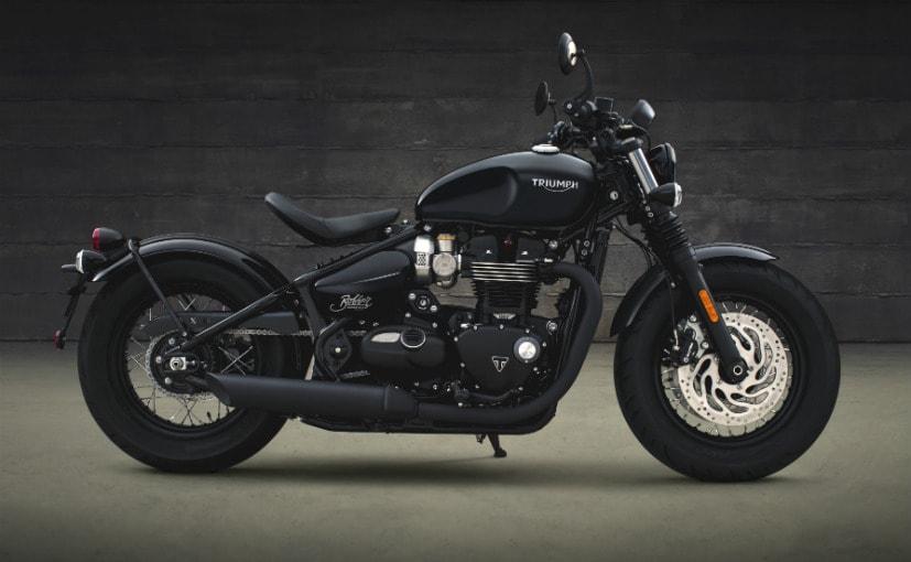 Triumph Bonneville Bobber Black Makes Its Global Debut Ndtv Carandbike