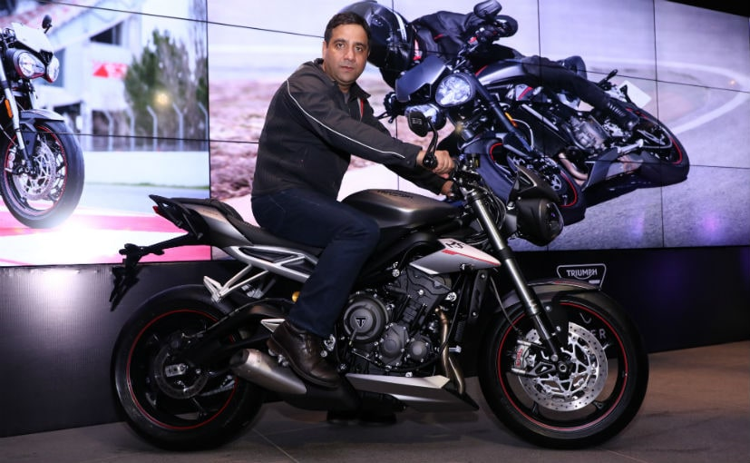 The Triumph Street Triple RS has been launched in India at a price of Rs. 10.55 lakh (ex-Delhi)