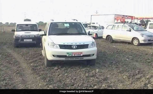 Uttar Pradesh: BJP minister's convoy drives over farmland, destroys crops