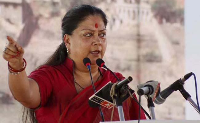 Poll Body Asked For Action On Vasundhara Raje Body-Shaming Complaint