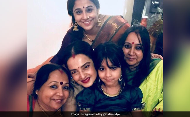 For Rekha, 'The Eternal Beauty,' A Beautiful Birthday Wish From Vidya Balan