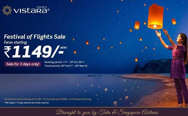 vistara, Airline, Diwali, Festivl of Flights