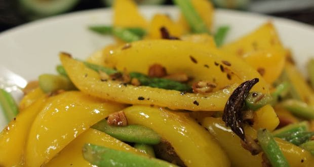 yellow pepper and asparagus recipe