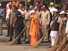 Yogi Adityanath In Agra LIVE Updates: Chief Minister Leads Cleanliness Drive Outside Taj Mahal