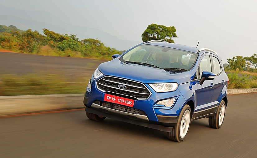 The instrument cluster has been borrowed from the company's top-spec Ford EcoSport S variant