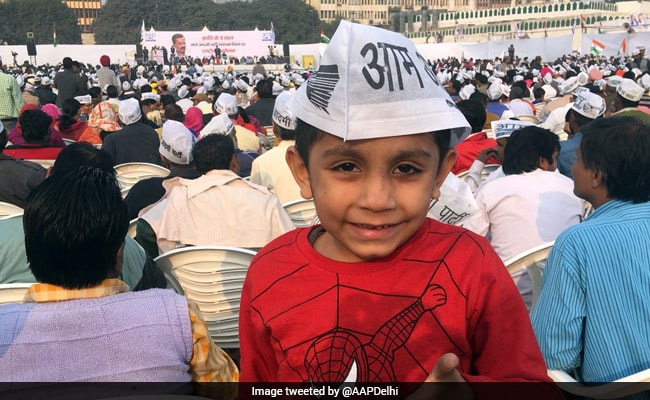 aap rally child twitter