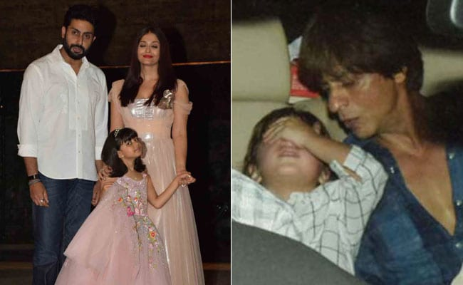 Aishwarya Rai - Abhishek Bachchans' Daughter Aaradhya's Birthday Bash With Shah Rukh Khan - AbRam And Others. See Pics
