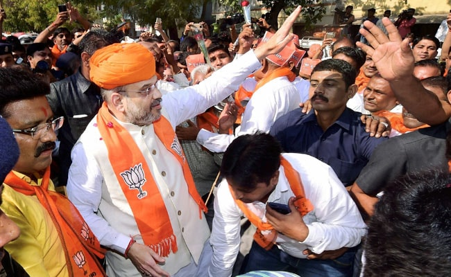 With Target 150 For Gujarat, Amit Shah Begins Door-To-Door Campaign