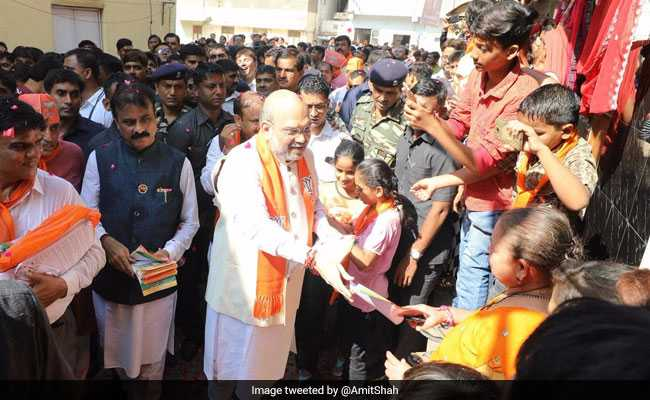 Gujarat Assembly Elections 2017: Amit Shah Launches BJP's Door-To-Door Campaign