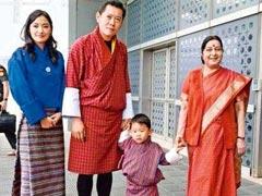 भूटान के नन्हे राजकुमार की क्यूटनेस पर फिदा हुए राष्ट्रपति कोविंद और विदेश मंत्री सुषमा स्वराज, फोटो वायरल