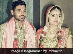 नूपुर नागर संग विवाह के बंधन में बंधे भुवनेश्वर कुमार, देखें PHOTOS