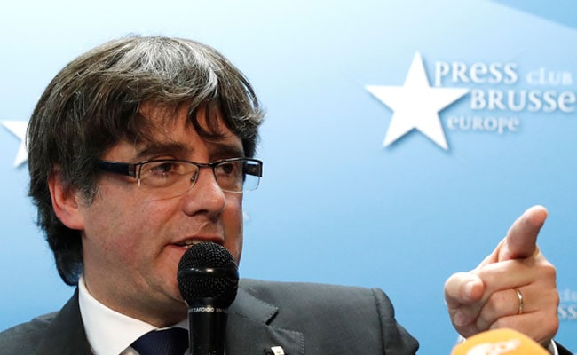 Catalonia's Leader Carles Puigdemont Turns Himself In To Belgian Police