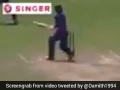 Lanka Batsman's Attempt At Inventing New Shot Ends In Major Embarrassment