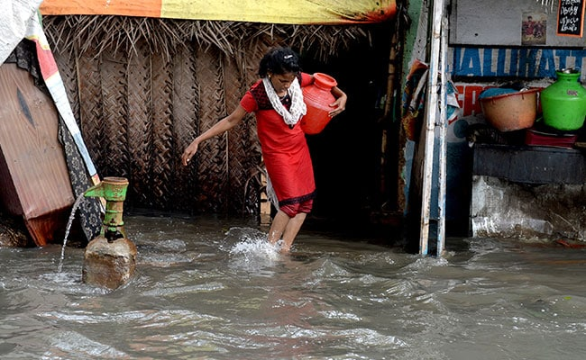 chennai rain waterlogged house afp