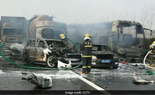 Dramatic Video Shows Aftermath Of 30-Vehicle Pile-Up In China