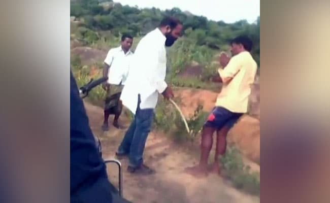 Local Telangana Politician Abuses Dalit Men, Forces Them Into Dirty Pond