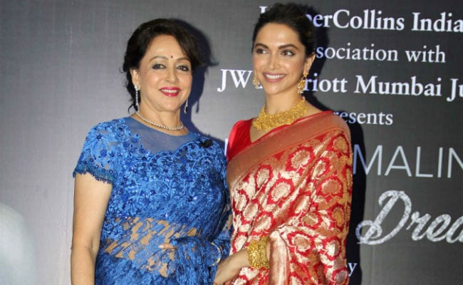 Deepika Padukone Passed 'Baton Of Excellence' By Hema Malini