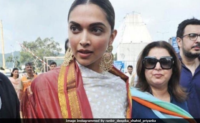 Deepika Padukone Visits Tirumala Temple, Accompanied By Farah Khan