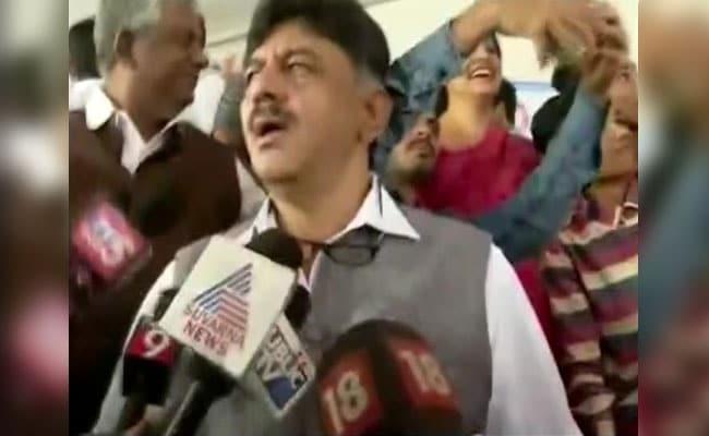 Karnataka Minister D K Shivakumar In Yet Another Selfie Row