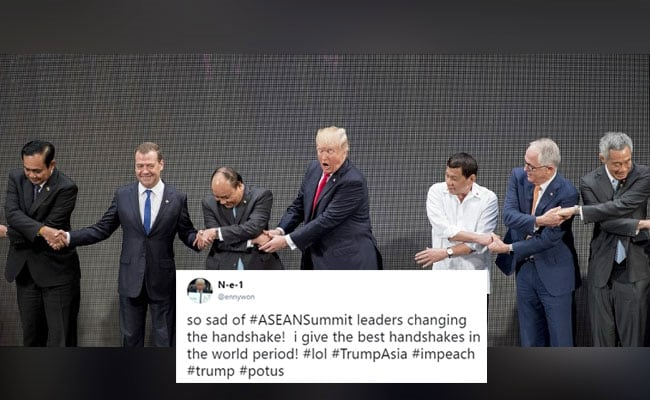 Trump's Awkward Handshake Fail Leads To Collective Facepalm On Twitter