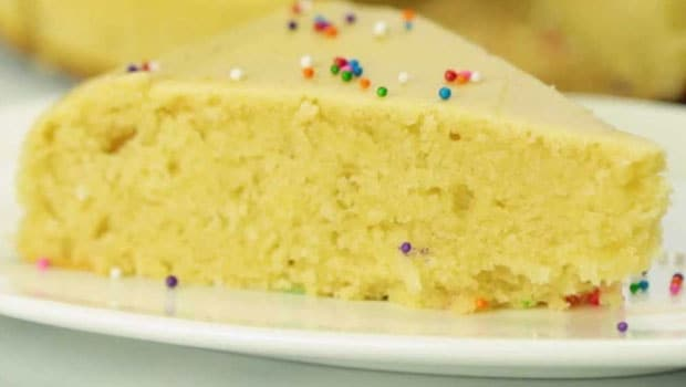 Pleasing Eggless Vanilla Cake In A Microwave Recipe By Disha Rathore Ndtv Personalised Birthday Cards Arneslily Jamesorg