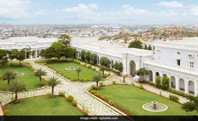falaknuma palace hyderabad aerial web