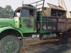 माओवादियों ने हल्दिया गैस पाईप का कार्य कर रही एजेंसी के कैंप पर किया हमला, तीन ट्रक सहित कई वाहन जलाए